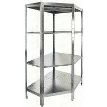 Стеллаж кухонный HICOLD НСКУВ-4/4 П (1800x400x400)